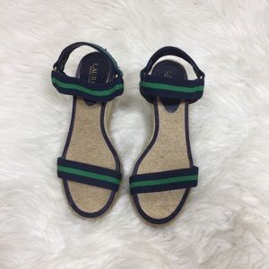 Lauren Ralph Lauren Navy and Green Espadrilles